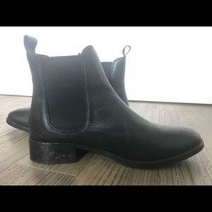 Asos black leather chelsea boots